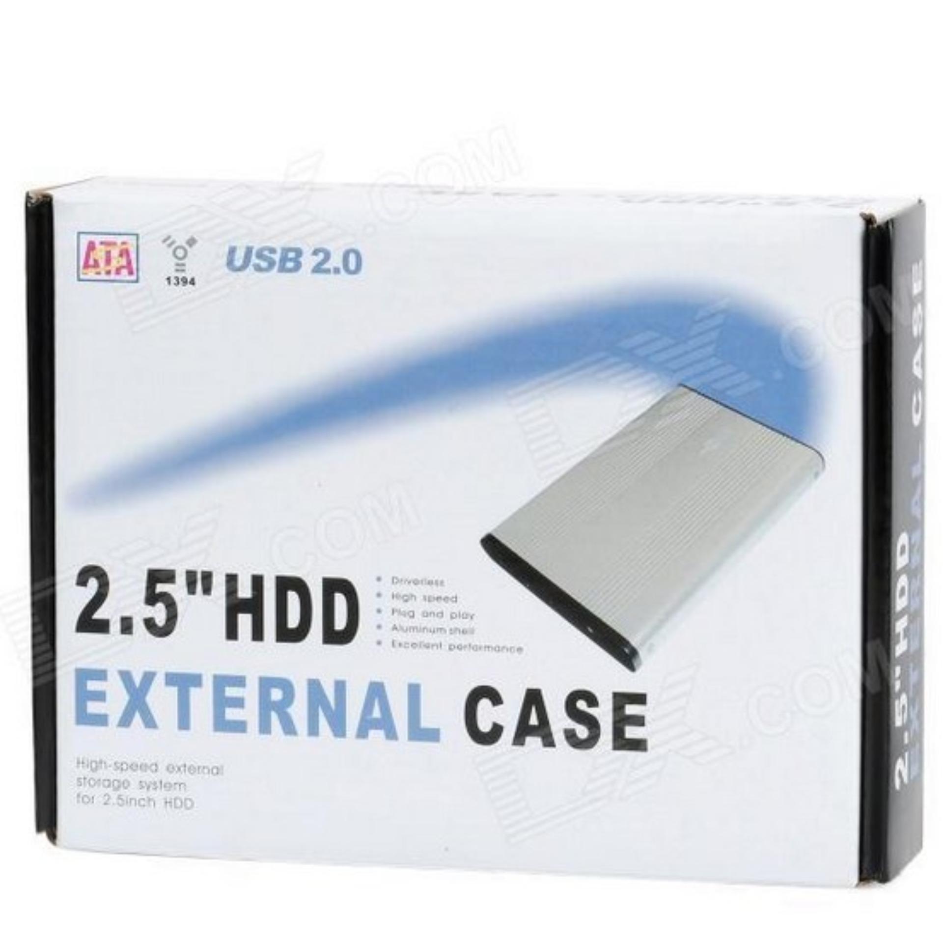 Online Murah 25 Inch External Case Usb 20 Sata Hdd Hardisk Drive Casing Laptop Enclosurebox Hard Disk Eksternal Notebook Netbook Silver