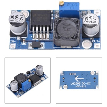 2pcs DC-DC 3A Buck Converter Adjustable Step-Down Power Supply Module LM2596S - intl - 2