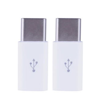 2pcs Type-C Male to Micro USB Female Converter Type-C Adapter(White) - intl