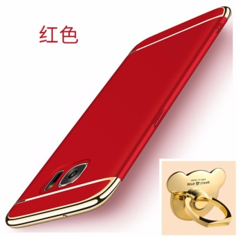 3 in 1 Ultra thin PC with Bear ring hard cover case phone case for Samsung Galaxy S6 edge plus(Red) - intl
