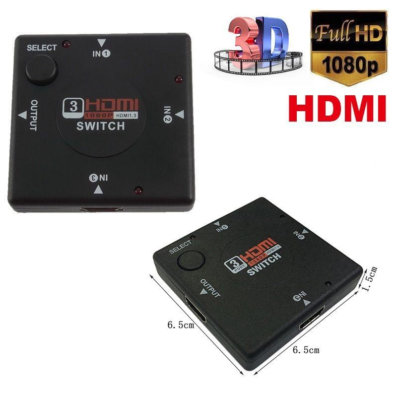 ... 3 Port HDMI Splitter Switch Selector Switcher support 1080p 2k1440p graphics - intl ...