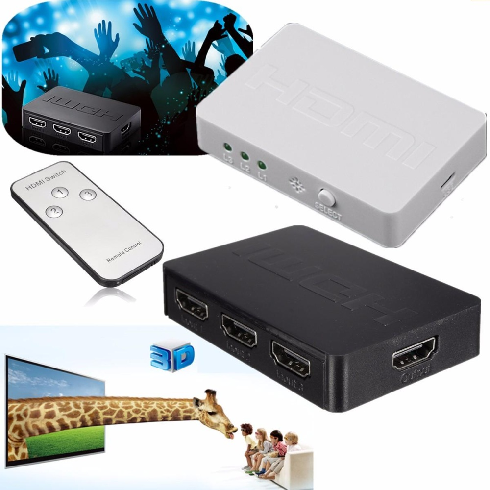Bandingkan Simpan 3 Ports Hdmi Splitter Switch 1080p 3d For Ps3 4 Tv Port Full Hd With Remote Control Pc Xbox Ir