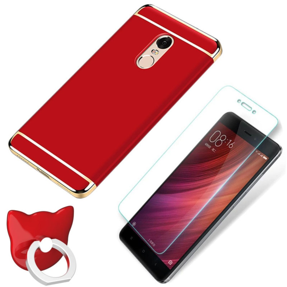 ... 3 Set (phone Case+ HD Full Coverage Tempered Glass +ring Holder)/Hard ...