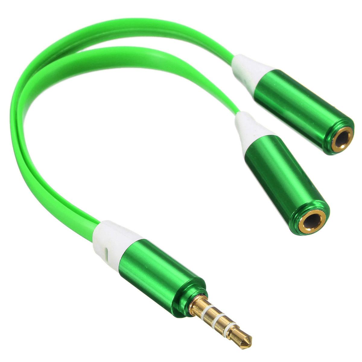 3.5 mm Male untuk 2 jack headphone y perempuan ganda pembelah Adaptor Audio .