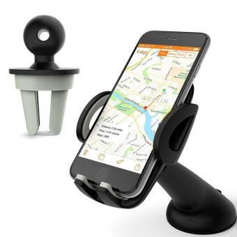 Car Holder for Mobile Phone Tripod 4 Black JakartaNotebook com Source · Berputar 2 In 1
