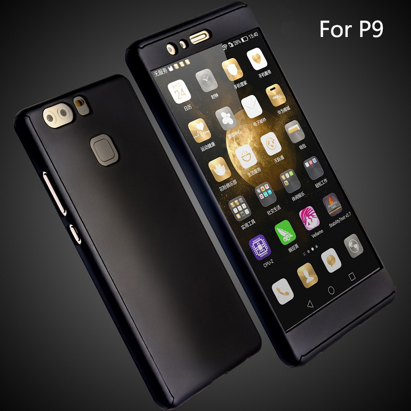 ... 360 Degree Full Body Hard PC Protective Back Case and FrontTempered Glass For Huawei Ascend P9 ...