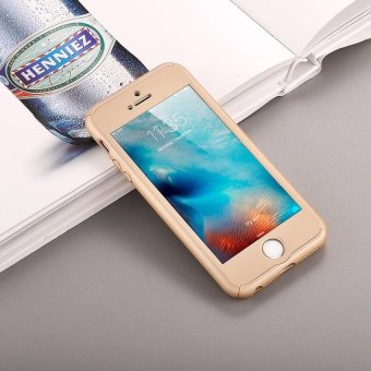 ... Harga 360 Degree Full Body Protect Hard Slim Case Cover with TemperedGlass for iPhone 5 5S