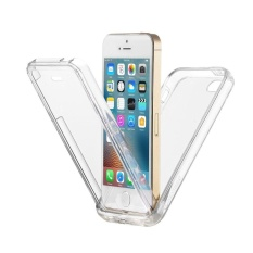 360 Degree Full Protective Rugged Transparent Clear Bumper Soft TPUBack iPhone case for Apple iPhone 5s