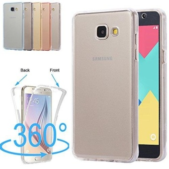 360 Degree Full Protective Soft Clear Crystal Gel TPU Case Front Back Cover For Samsung