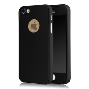 360 Full Hybrid Case For Iphone 5 / 5s / SE - Black / Hitam