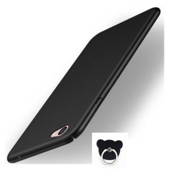 360 ultra-thin matte PC hard Cover Case For Oppo F3 Plus(Black+BearRing - intl