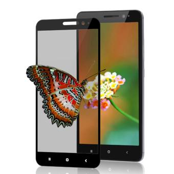 3D Full Cover Colour Tempered Glass Screen Protector for Xiaomi Mi Max - Hitam