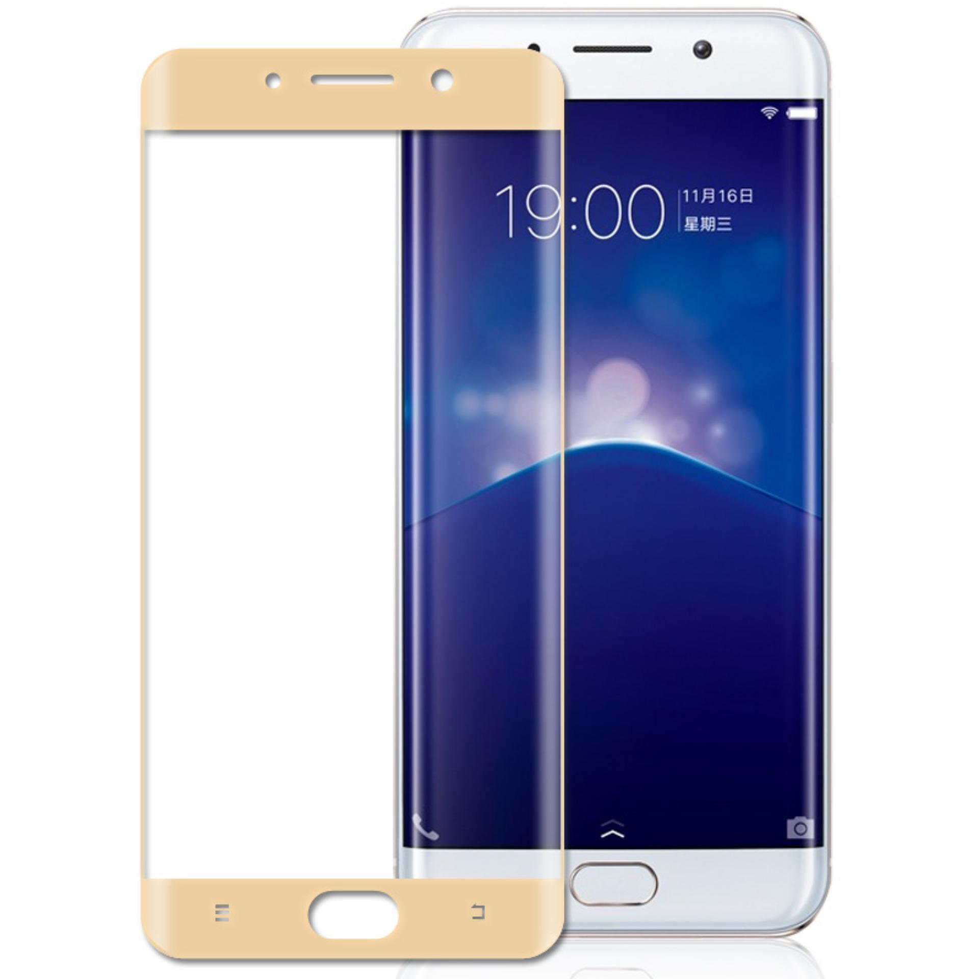 3D Full Cover Tempered Glass Warna Screen Protector for VIVO Y55 /Y55s - Gold