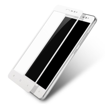 3D Full Cover Tempered Glass Warna Screen Protector for XiaomiRedmi Note 4X - White