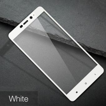 3D Full Cover Tempered Glass Warna Screen Protector for XiaomiRedmi Note 4X - White - 2
