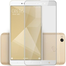 3D Full Cover Tempered Glass Warna Screen Protector for XiaomiRedmi 4X - White