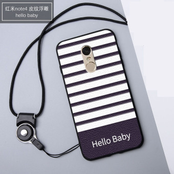 3D Relief Silica Gel Soft Phone Case for Xiaomi Redmi Note 4X (3GB+16/32GB) with a Rope (Multicolor)