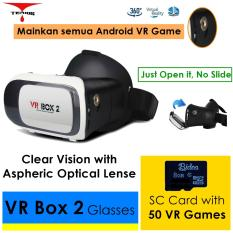 3D VR BOX 2 + V02 with Magnetic Button & 8G Game, Google Cardboard Virtual Reality Glasses VR-BOX 2+V02