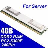 4 GB DDR2 PC2-5300F 667 MHz DIMM 240PIN CL5 Server ECC RAM Memori untuk ...