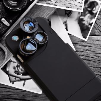 4 in 1Scrub phone Case With Self-timer wide-angle lens For iphone 6Plus
