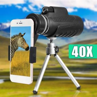 40X60 mobile phone telescope lens + universal phone clip + tripod - intl