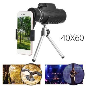 40X60 Telephoto Monocular Lensa Kamera + Holder + Tripod untuk Mobile Smart Phone-Intl