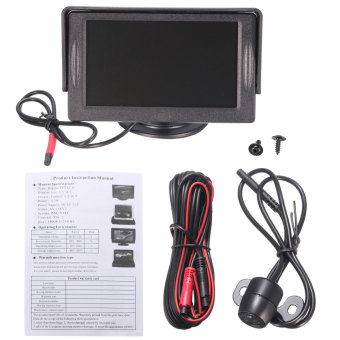 4.3 inci Digital LCD TFT Monitor kamera parkir mobil memuja DVD Video Player belakang Kit - Internasional