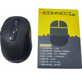 4connect Optical Wireless 2.4GHz Mouse -Black - 5