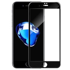 4D Full Curved Tempered Glass Warna Full Screen Cover Protector for Apple iPhone 6 Plus / 6s Plus - Black