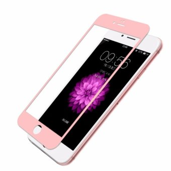4D Full Curved Tempered Glass Warna Full Screen Cover Protector for Apple iPhone 6 Plus / 6s Plus - Rosegold