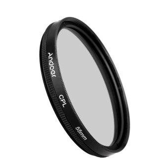 55 mm Digital tipis Kopral Circular Polarizer polarisasi kaca Filter untuk Canon Nikon Sony DSLR lensa kamera - 3
