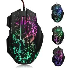 5500 DPI Colorful LED Optical USB Wired Gaming PRO Mouse Mouse untuk PC Laptop (Hitam)