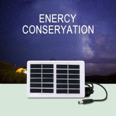 W Outdoor Multi-Function Portable Waterproof Solar PanelCharger for Emergency Lamp Fan