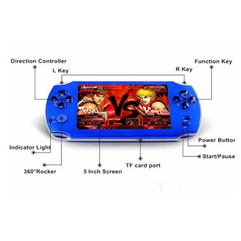 9000+ Free Games 5 Inch 8G PSP Game Player Handheld GBA ConsolesBig Screen MP3/MP4/MP5/FM/Camera (White) - intl - 3