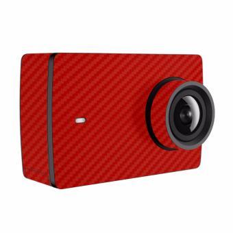 9skin - Premium Skin Protector untuk Xiaomi Yi 4K - 4K Plus -Carbon Texture - Merah