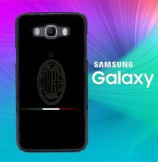 Ac Milan Logo Dark O1023 Casing Custom Hardcase Samsung Galaxy Grand 2 Case Cover