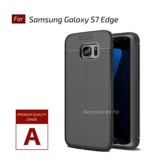 Accessories Hp Premium Ultimate Shockproof Leather Case For Samsung Galaxy S7 EDGE - Black