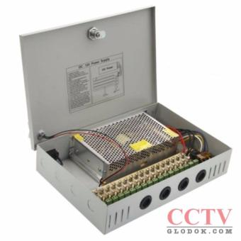 Adaptor power supply 18ch 20A DC 12V Panel Box For CCTV