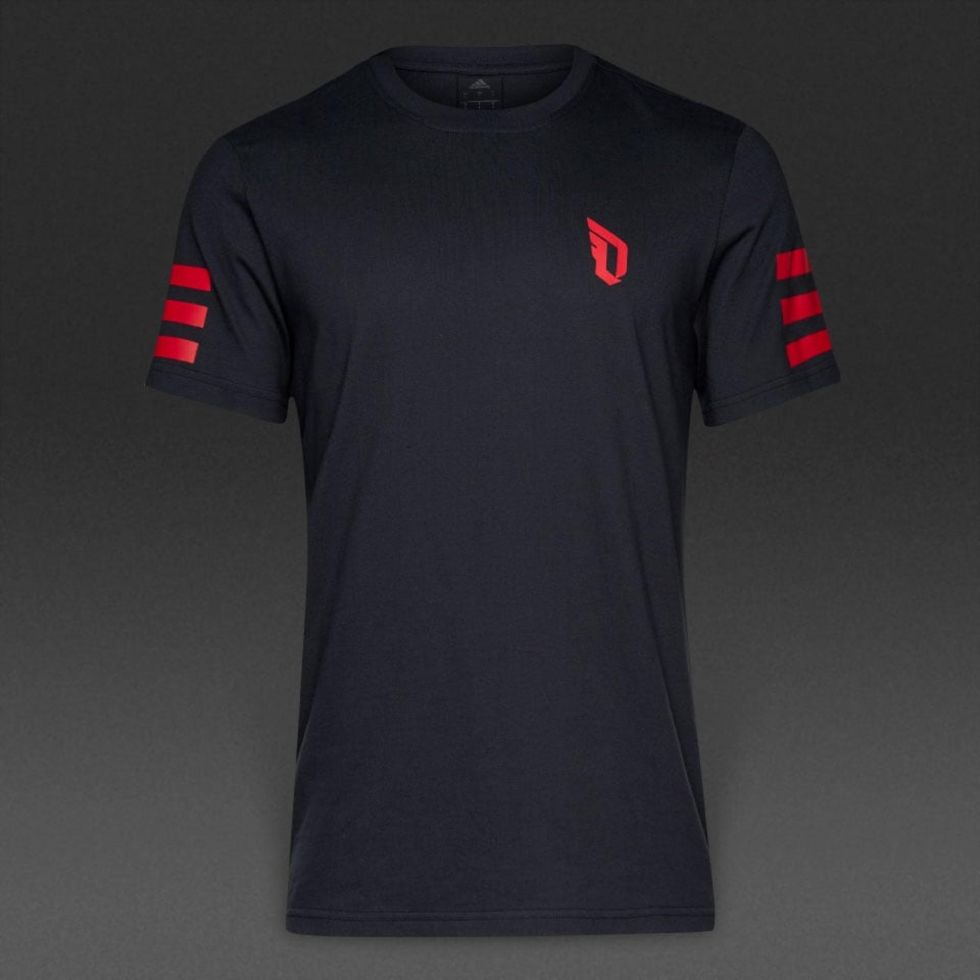 Adidas kaos Dame stripe Tee - BJ9616 - hitam