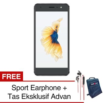 Advan G1 4G - Grey - Free Sport Earphone + Jelly Case -FreeEksklusif Tas Advan