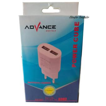 ADVANCE POWER CUBE AC02 ADAPTOR CHARGER 2 USB -2AMPERE-KABEL MICRO - 4