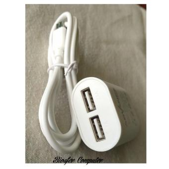 ADVANCE POWER CUBE AC02 ADAPTOR CHARGER 2 USB -2AMPERE-KABEL MICRO - 2