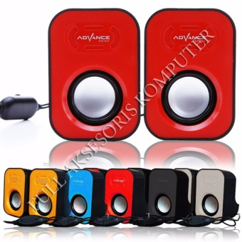 ADVANCE Speaker USB Duo-026 - Merah