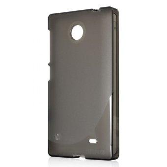 Gambar Ahha Moya Gummishell for Nokia X Dual Sim Case Hitam