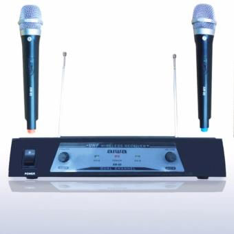 Aiwa AW 89 Mic Double Wireless UHF - Hitam