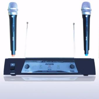 Aiwa AW 89 Microphone Double Wireless UHF - Hitam