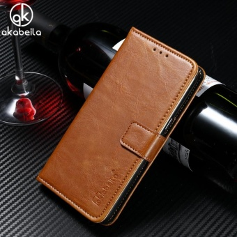 AKABEILA Leather Wallet Phone Case for Lenovo Vibe K5 K5 Plus Lemon3 K32C36 A6020 A6020a46 A6020a40 5.0 inch Luxury Plain Crazy HorsePhone Wallet Cases Cover Card Holder - intl