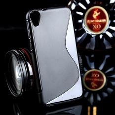 AKABEILA untuk HTC DESIRE 820 Dual SIM 5.5 Inch Sline TPU Silicone Back Cover untuk HTC Desire D820U D820 D820T 820g 820g + 820 S D820S D820Q S Line Soft Phone Case Black Sederhana Tas Ponsel Kasus -Intl