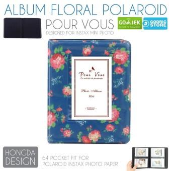 harga Album Floral Clover 64 Foto Fujifim Instax Mini Polaroid 8 / 9 / 25 / 50 / 90 / SP2 / 2R etc - Blue Rose Lazada.co.id