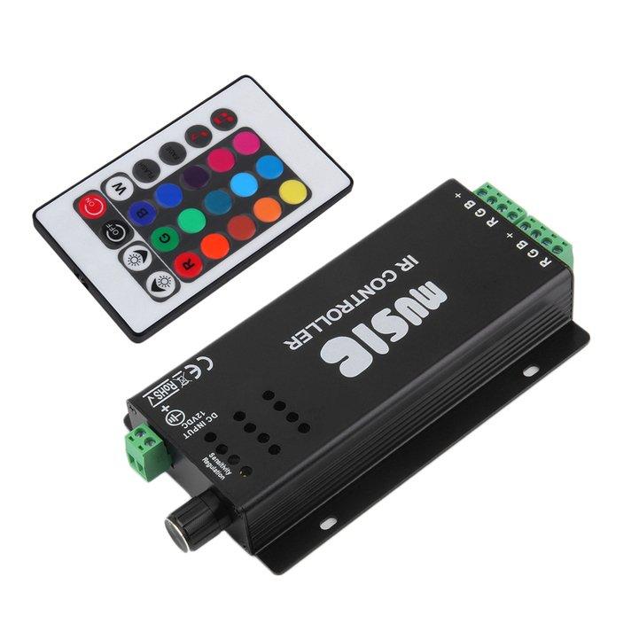 Allwin 24 suara musik kunci Remote kontrol IR sensitif untuk Lampu Strip LED .
